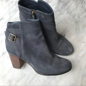 Cole Haan Shoes - Cole Haan Cassidy buckle bootie blue suede size 7